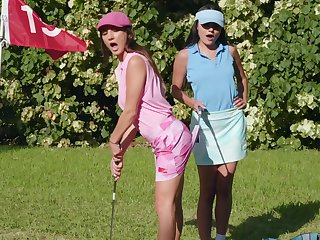 Sexual fantasy down at the golf course for team a few top lesbians