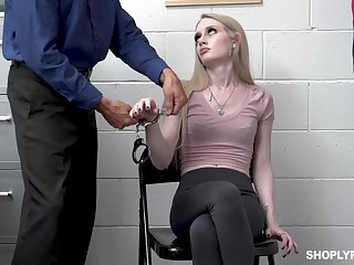Defrauding widely applicable Emma Starletto is punished by kinky security guy