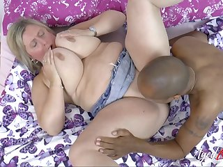 Buxom Gold Hair Lady Milf Interracial Bj