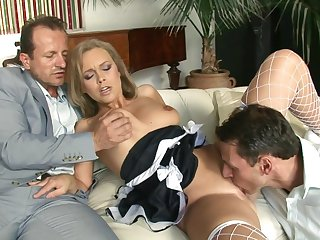 Blondie Mommy Colette Fucks Two Guys - gangbang
