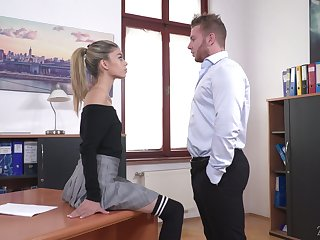 Light haired chick Ciara Riviera is naughty scrivener who loves some wettish fuck