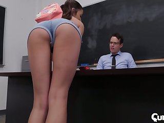 Sophomore student Adria Rae gets her pussy licked and fucked right beyond everything the table