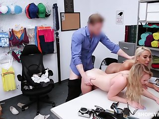 Rivet guy punishes shoplifting stepmom Kylie Kingston and her yummy stepdaughter