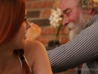 Talkative coupled with impudent Czech nympho Charli Red lures older man for wild fuck
