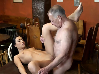 Old man fuck anal plus young kissing first time saw his