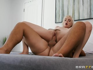 Trimmed pussy pornstar Lilly Bell gets fucked with the addition of swallows the cum