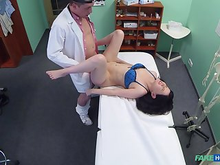 Wife strips defoliate for her doctor who wants to fuck her